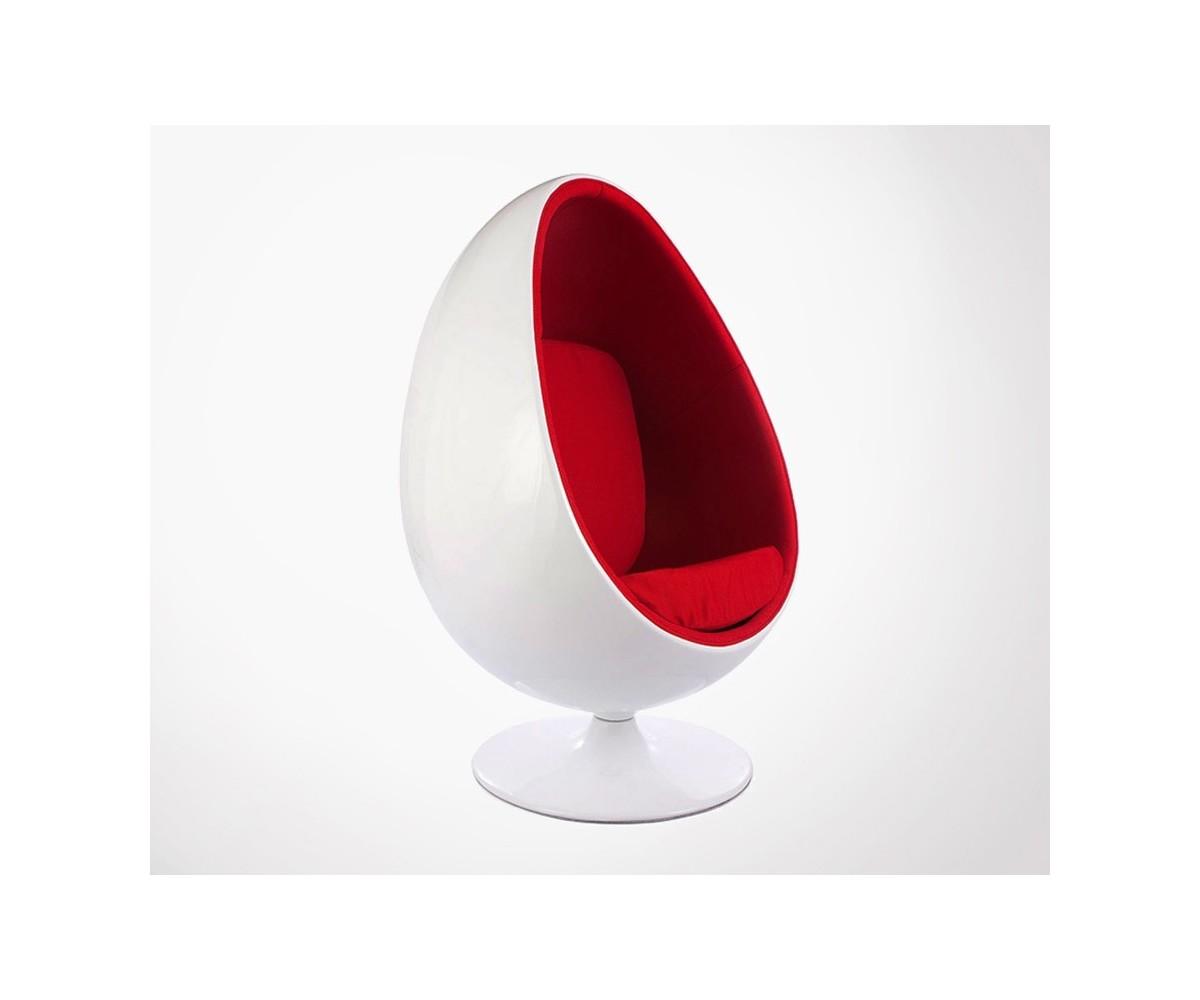 Fauteuil Oeuf Design EGGY Inspir Par Le Style Annes 50