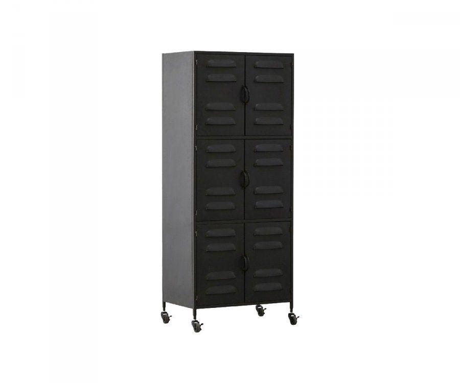 armoire type locker en metal noir ou blanc avec rangements woood