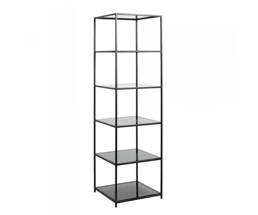 etagere colonne design en metal et verre louane qualite superieure