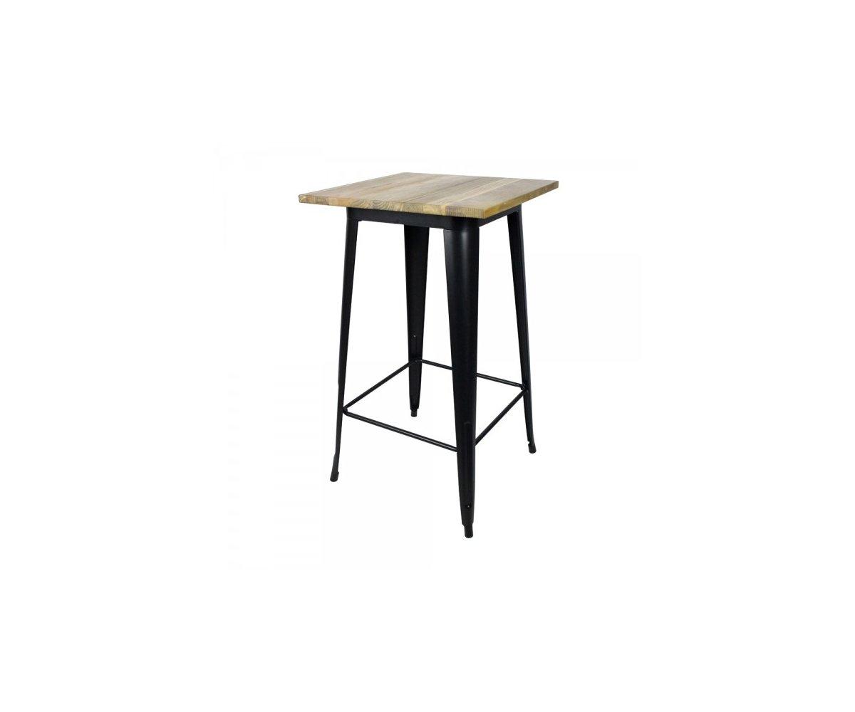 table haute style industriel en bois et