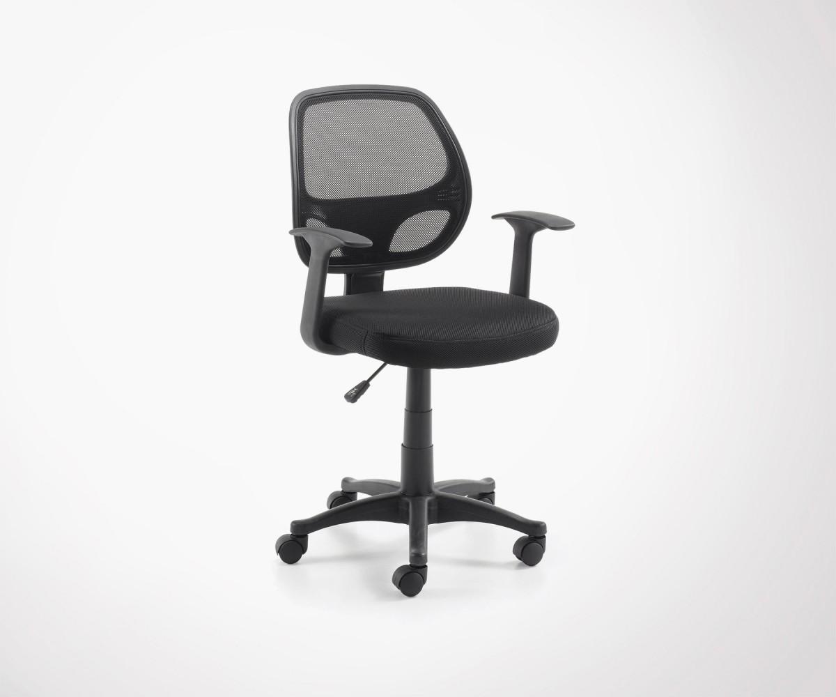 chaise de bureau design reglable noir space loading zoom