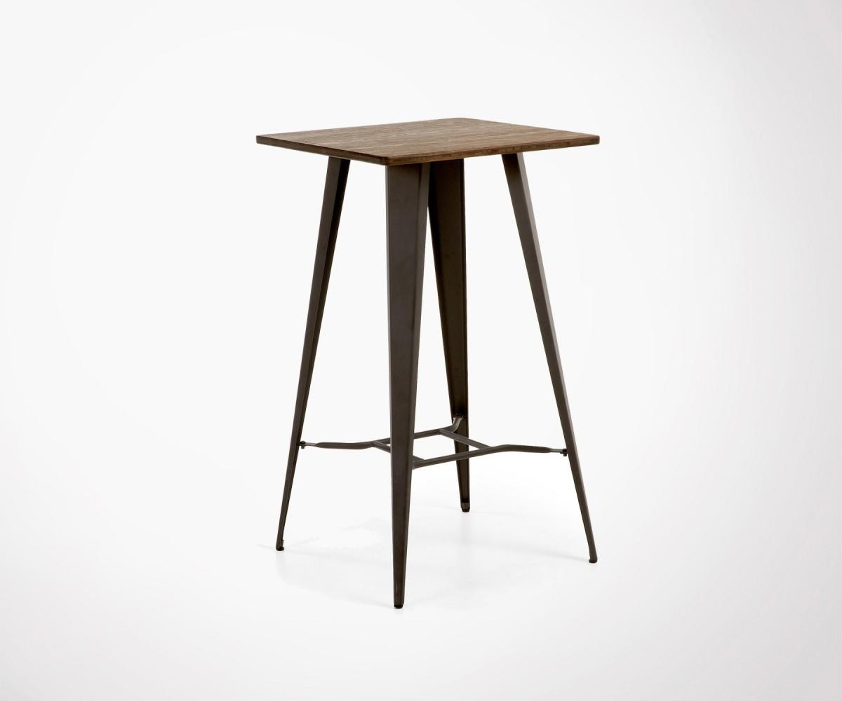 table haute metal bois costy 60cm