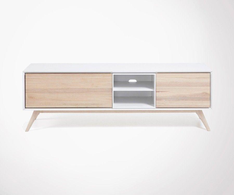 meuble tv design pieds compas 174cm style scandinave