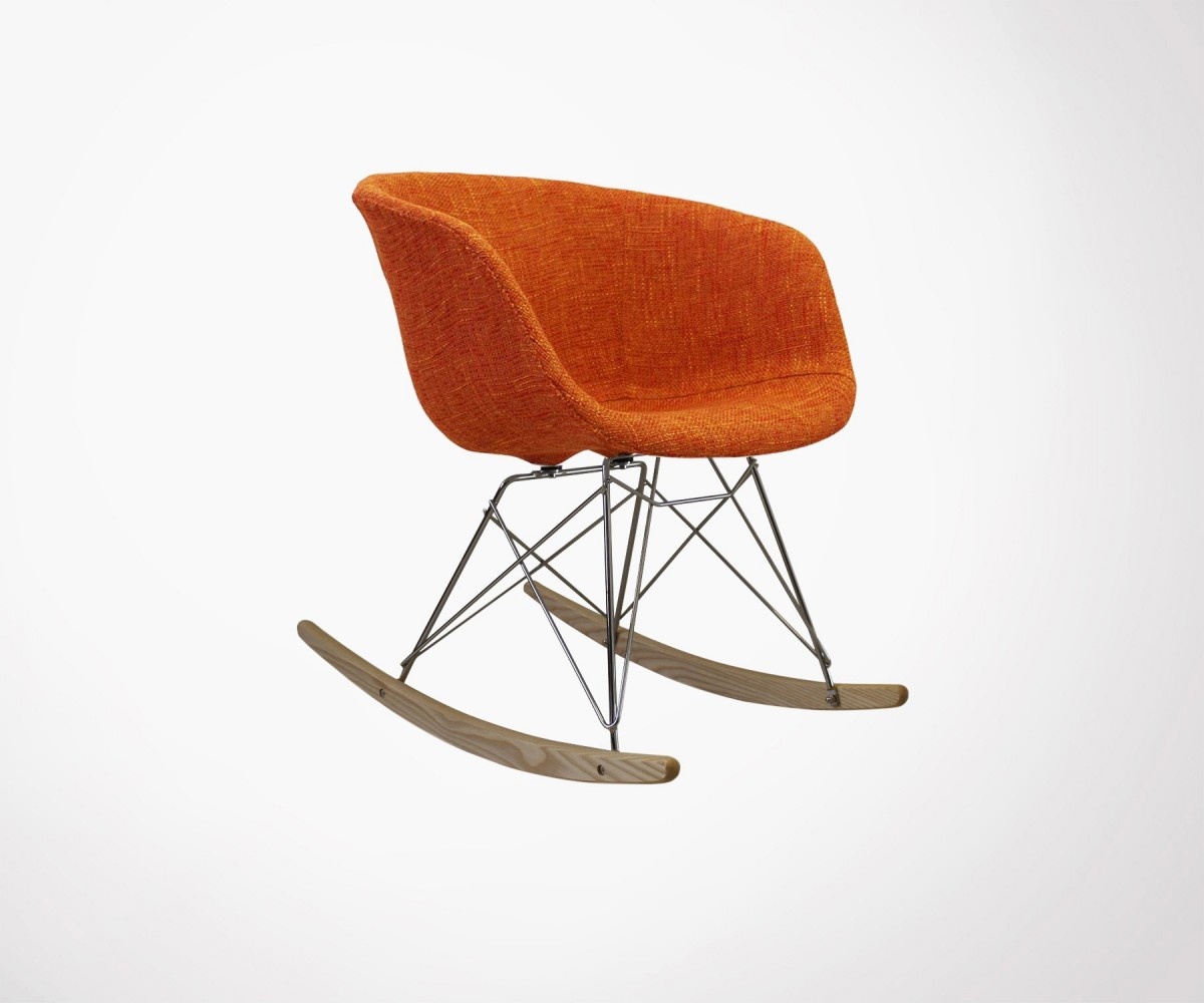 Padded Rocking Armchair Inspired By The RAY Chair From EAMES
