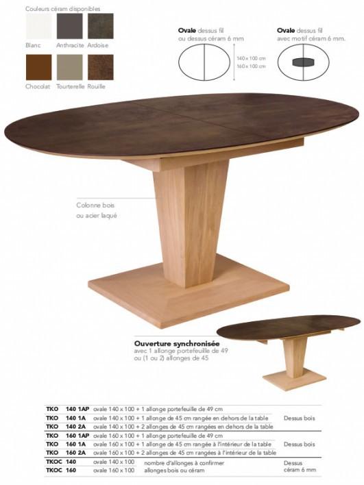 tables en chene massif meubles et