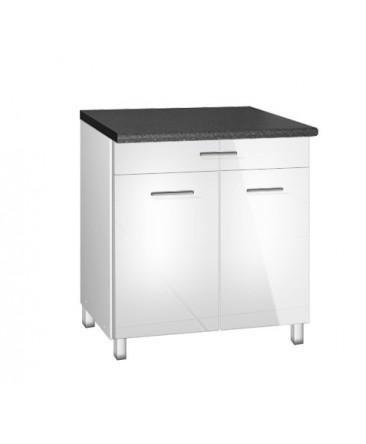 meuble cuisine bas 80cm tara 2 portes 1 tiroir