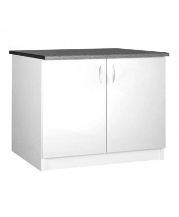 meuble cuisine sous evier 2 portes 120cm oxane