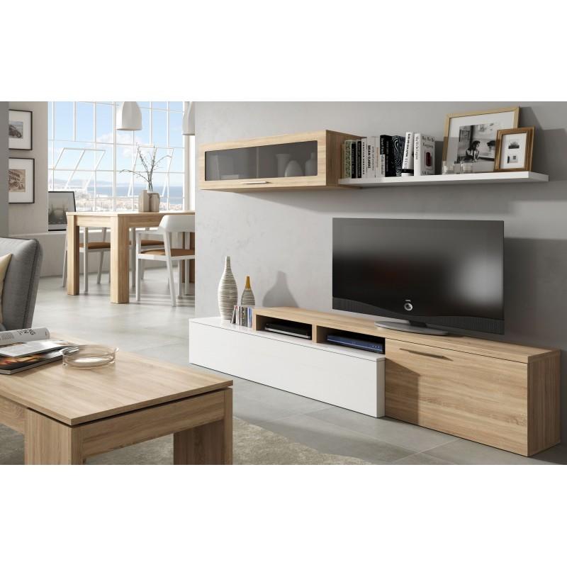nexia ensemble meuble de tele simple ou angle