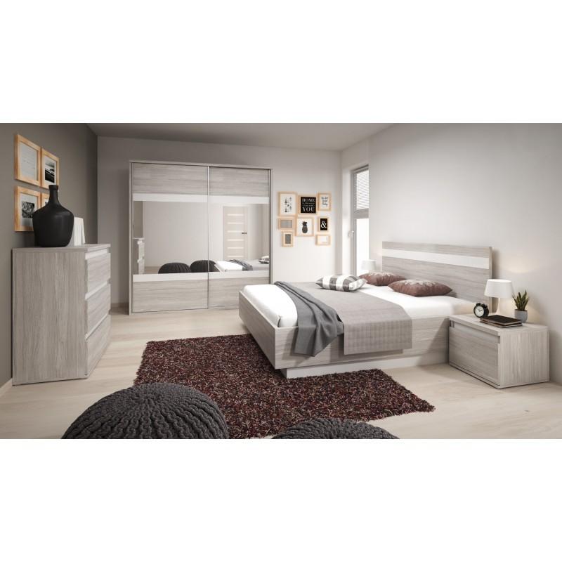 montreal chambre complete adulte gris et blanc