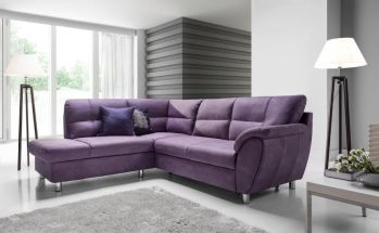 Canapé d'angle Madrid violet