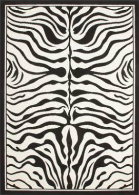tapis zebre poils longs