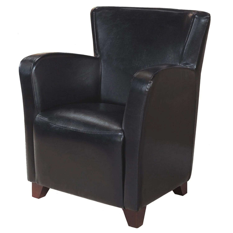 chaise d appoint simili cuir noir