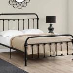 Bed Full Size Black Metal Frame Only
