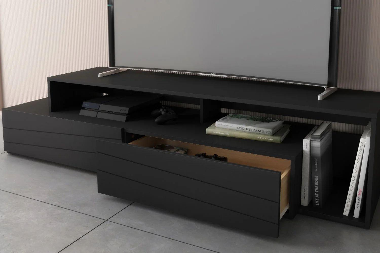 nexera 112006 meuble audio video tonik 72 po noir