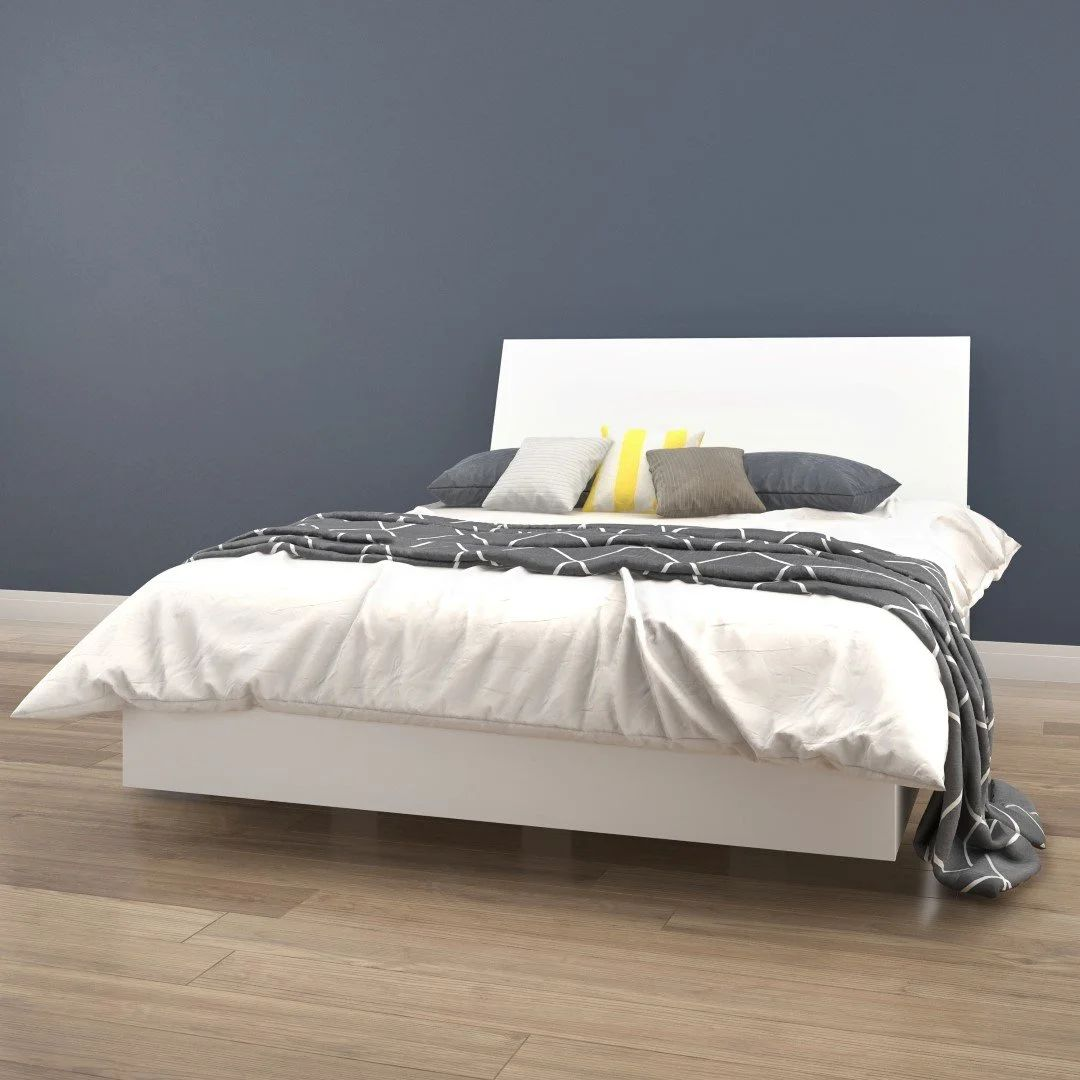 lit plateforme tete de lit double