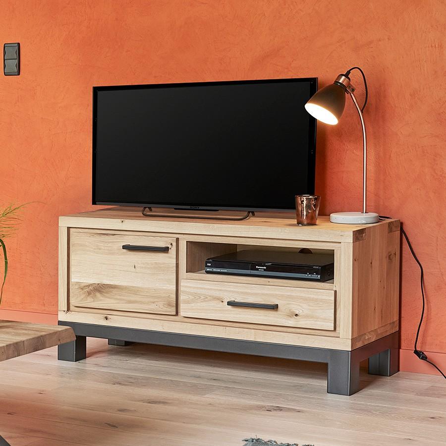 petit meuble tv 1 porte forest en chene 100 massif