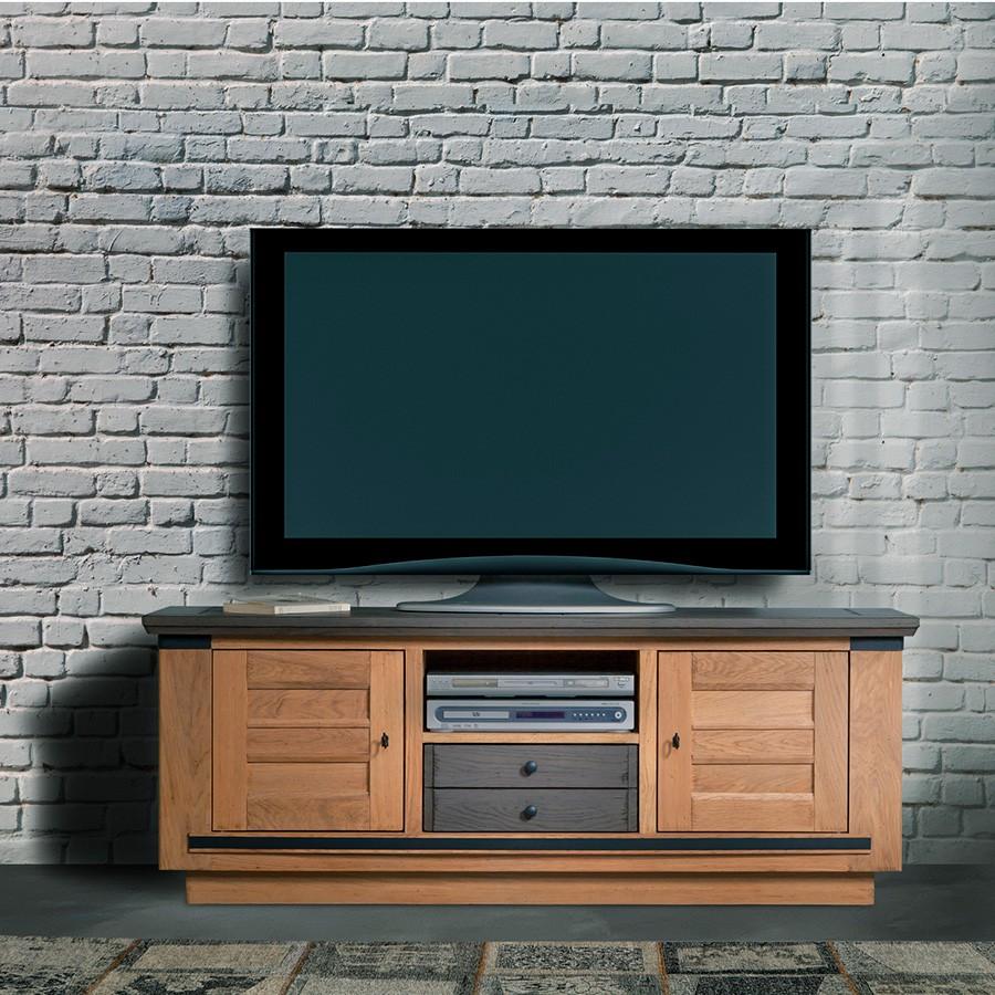 grand meuble tv magellan 100 chene massif 2 portes