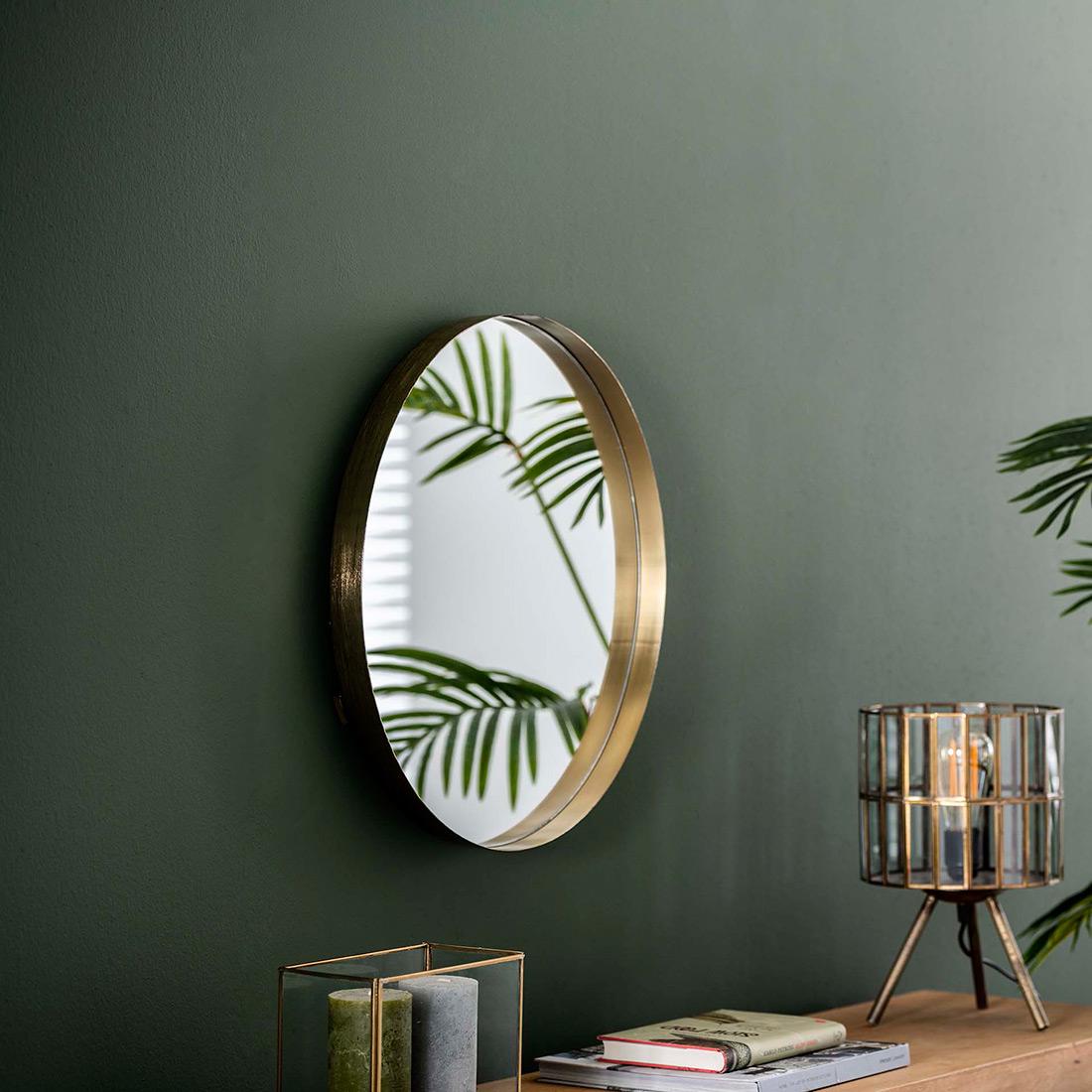miroir rond eloise avec un diametre de 50 cm possible en 2 finitions meubles thiry