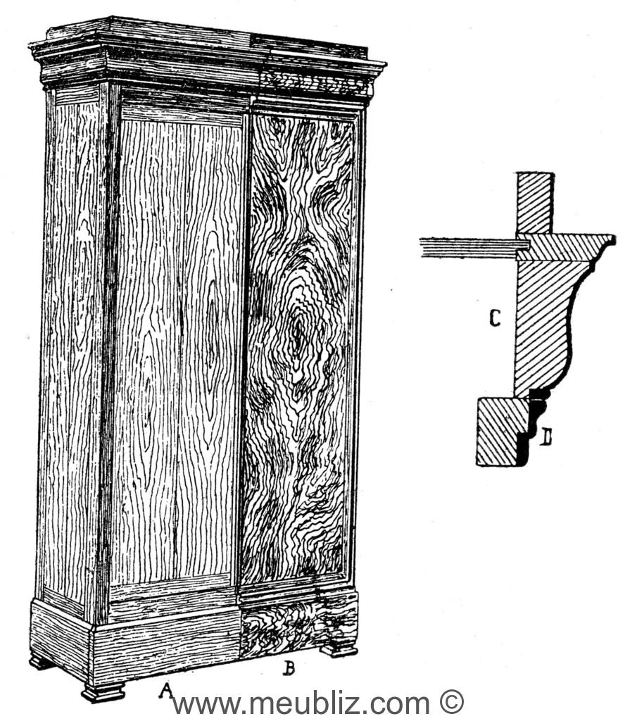 Armoire Restauration Louis Philippe