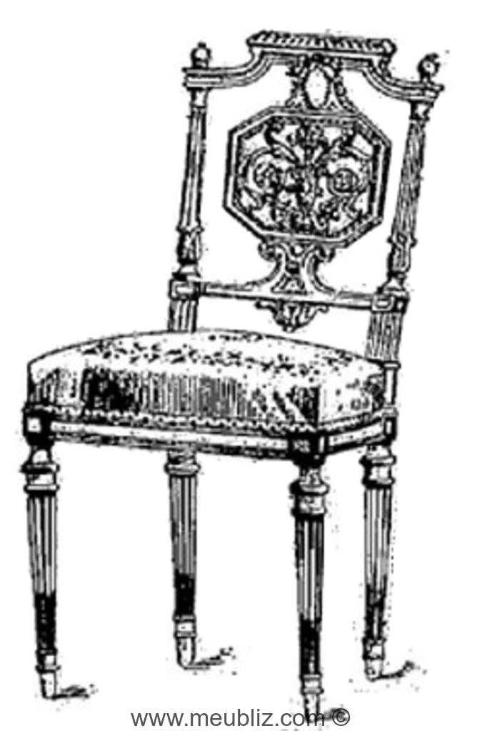 chaise louis xvi a dossier ajoure a