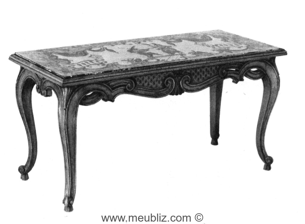 table basse louis xv a plateau