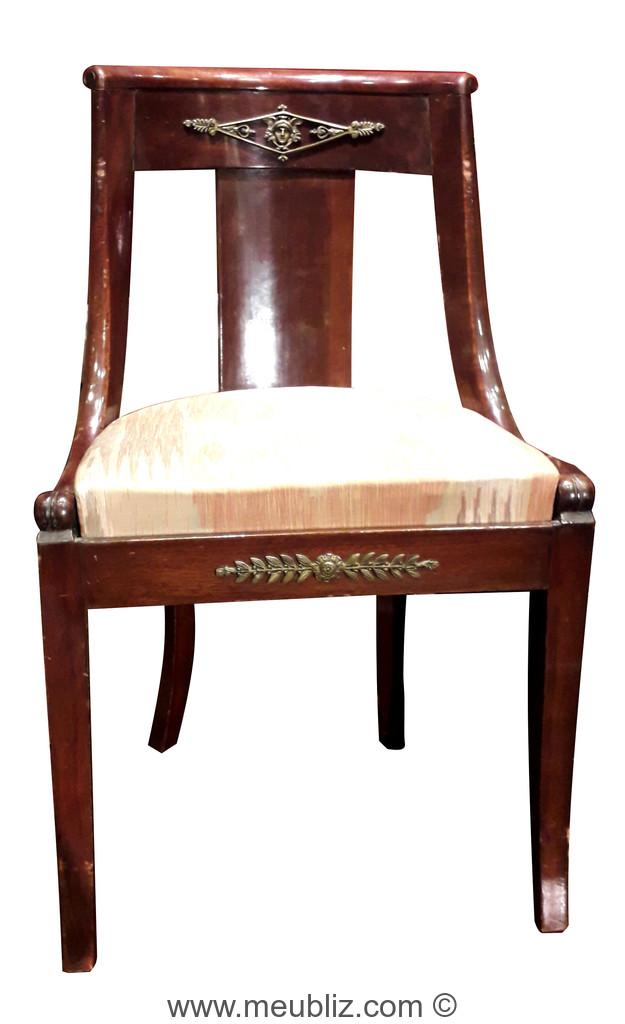 chaise gondole empire a dossier ajoure