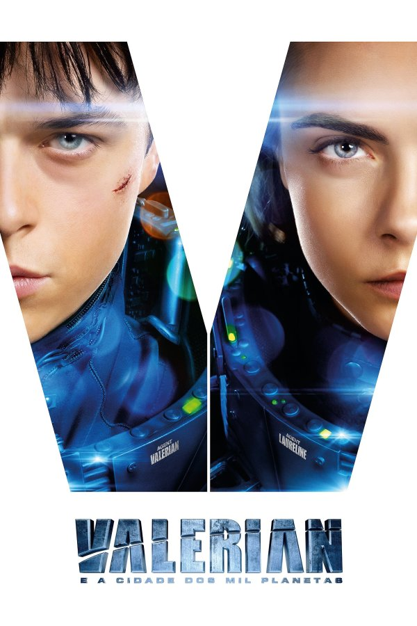 "Poster for the movie ""Valerian e a Cidade dos Mil Planetas"""