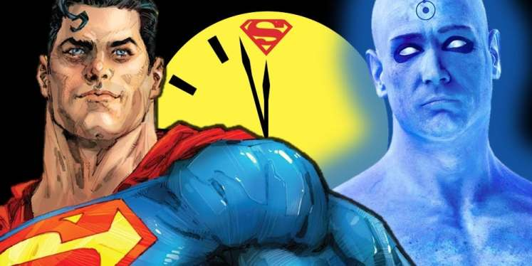 Superman-Doctor Manhattan Doomsday Clock[