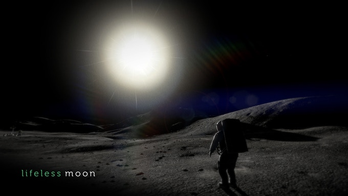 Sol visão da lua