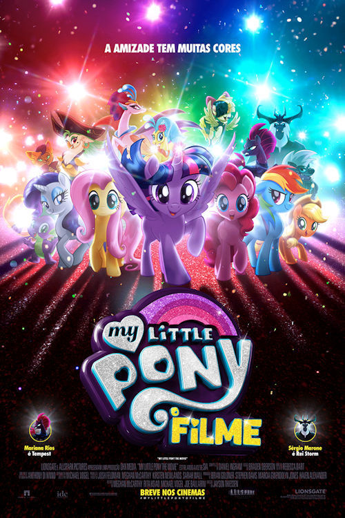 """Poster for the movie """"My Little Pony: O Filme"""""""