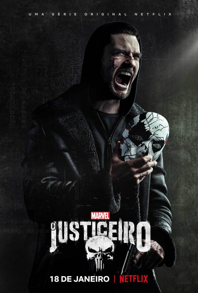 Pôster Marvel Justiceiro Segunda temporada   Foto reprodução Netflix