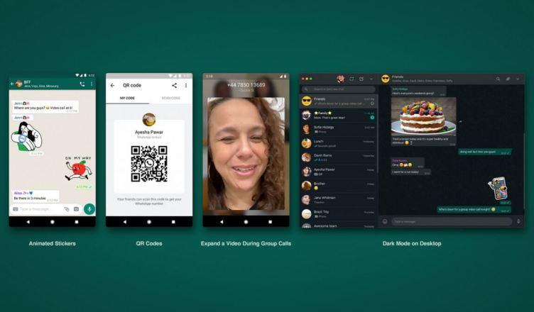 WhatsApp: novos adesivos e modo escuro também para a Web