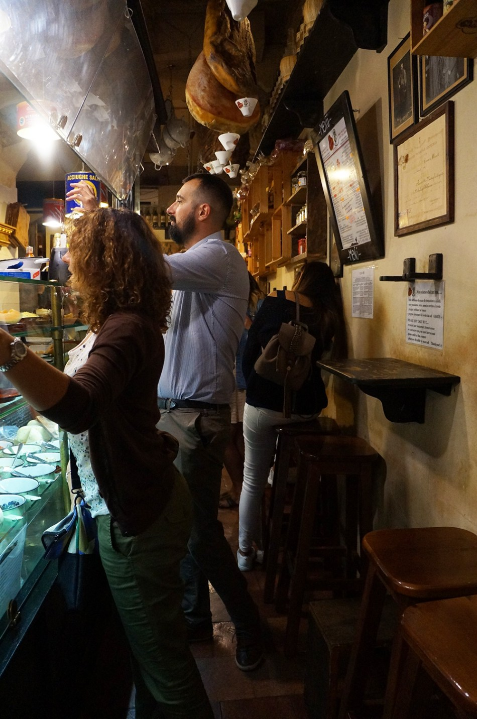 Roma - Itália - Restaurante La Prosciutteria (Trevi)