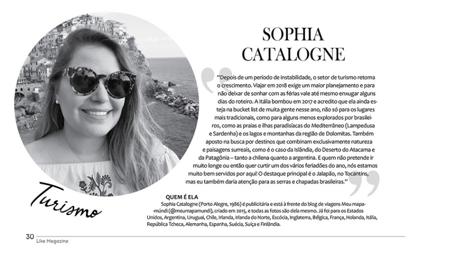 Sophia Catalogne | Revista Like Magazine