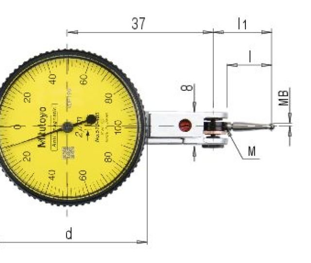 Analogue Lever Dial Indicator 0 001 Mm