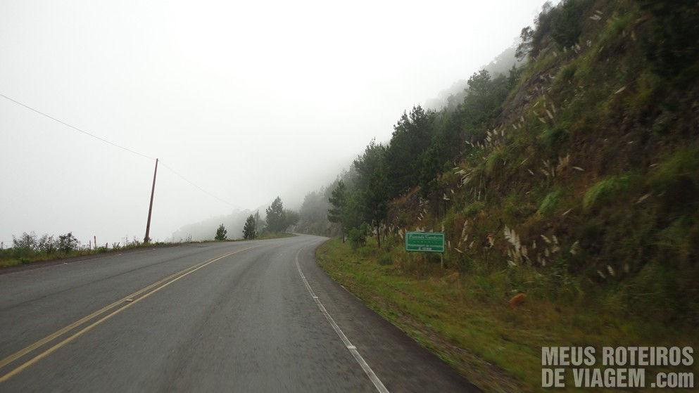 Rodovia SC-430 entre Urubici e São Joaquim