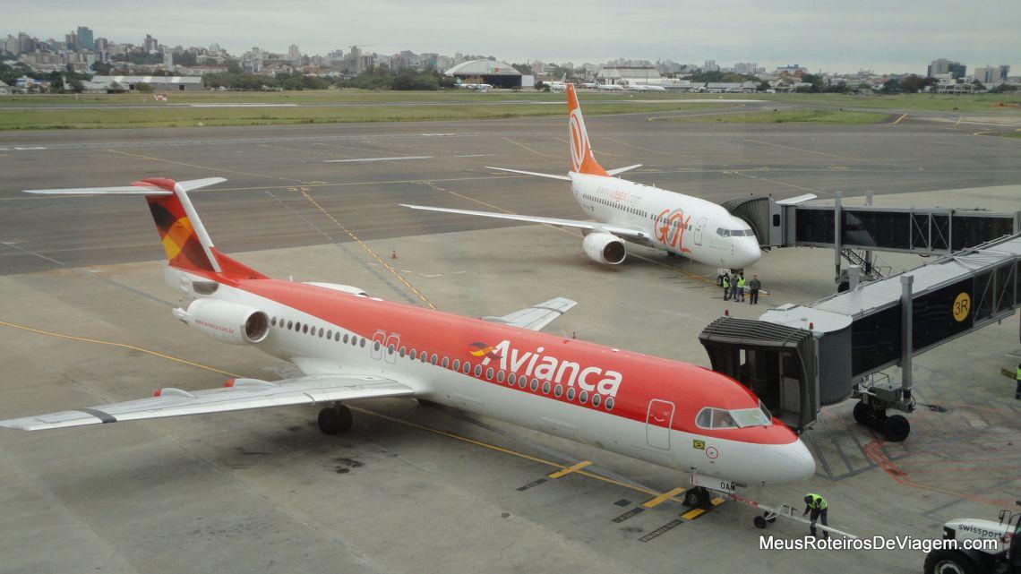 Aeronaves no Pátio do Aeroporto de Porto Alegre