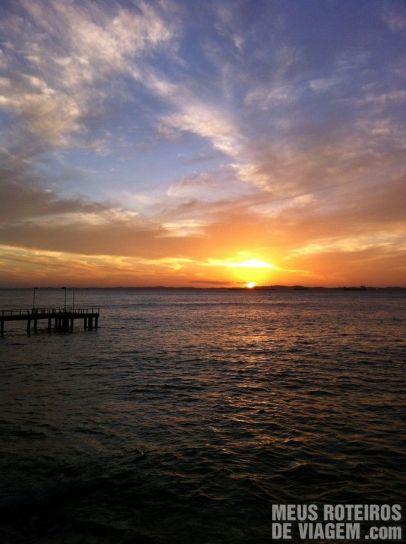 Por do sol no Solar do Unhão - Salvador, Bahia
