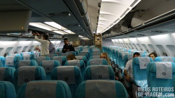 Classe econômica do Airbus A330-300 da Turkish Airlines