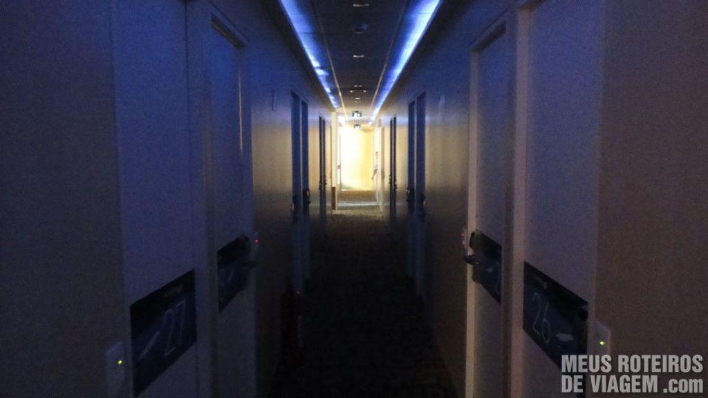 Corredor do Hotel Slaviero Fast Sleep - Aeroporto de Guarulhos