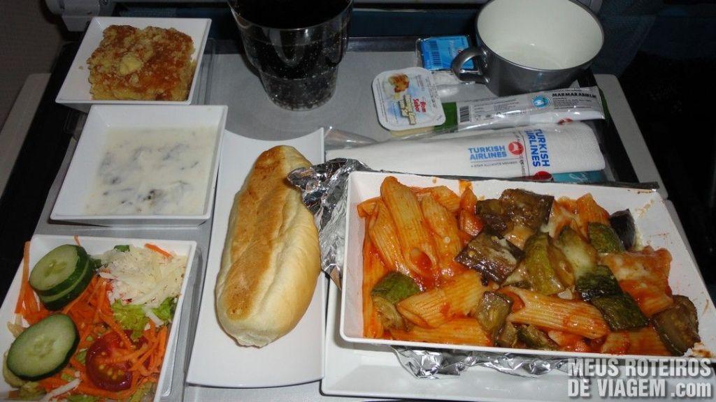 Serviço de Bordo - Café-da-manhã da Turkish Airlines
