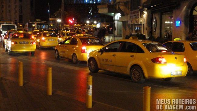 Táxis em Istambul - Turquia