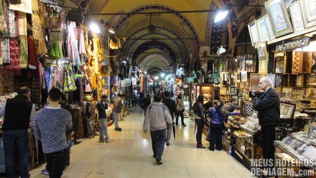 Lojas do Grande Bazar - Istambul, Turquia