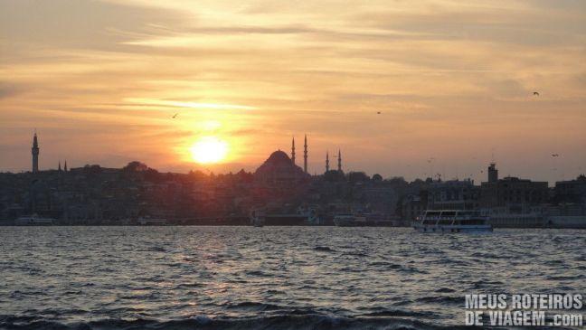 Pôr do sol em Istambul - Turquia