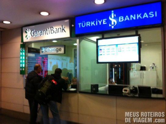 Casas de Câmbio no Aeroporto de Istambul
