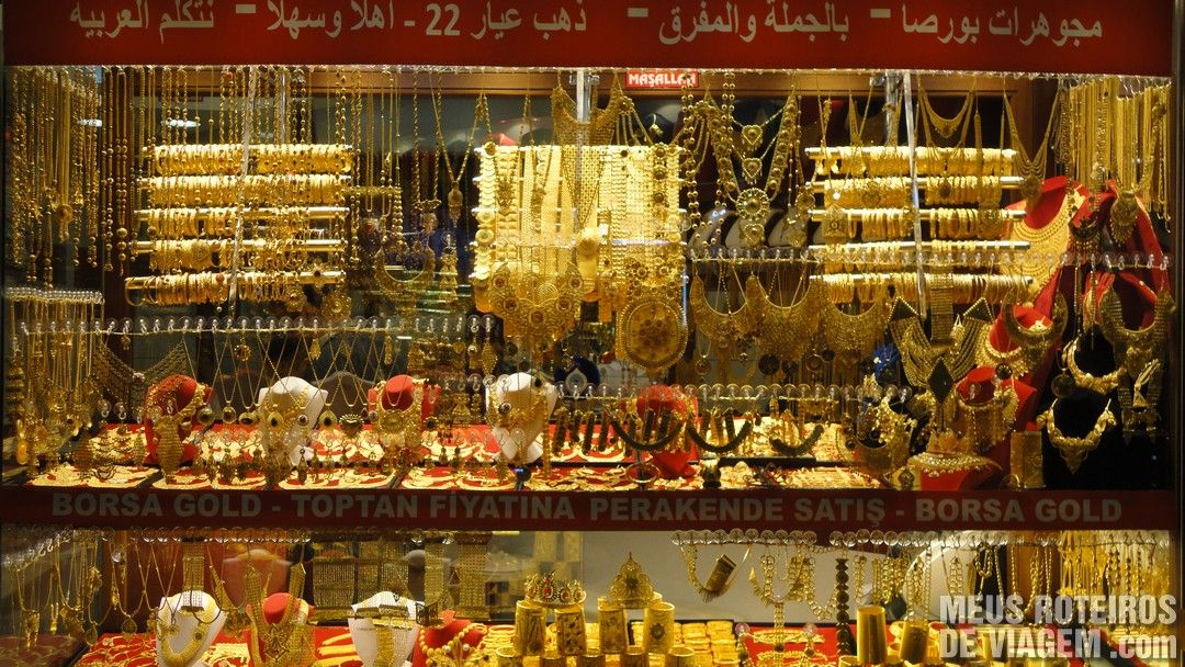 Jóias no Grande Bazar - Istambul, Turquia