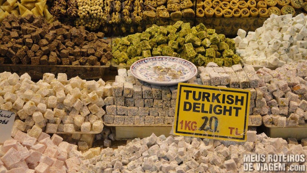 Delícias Turcas no Bazar de Especiarias - Istambul, Turquia