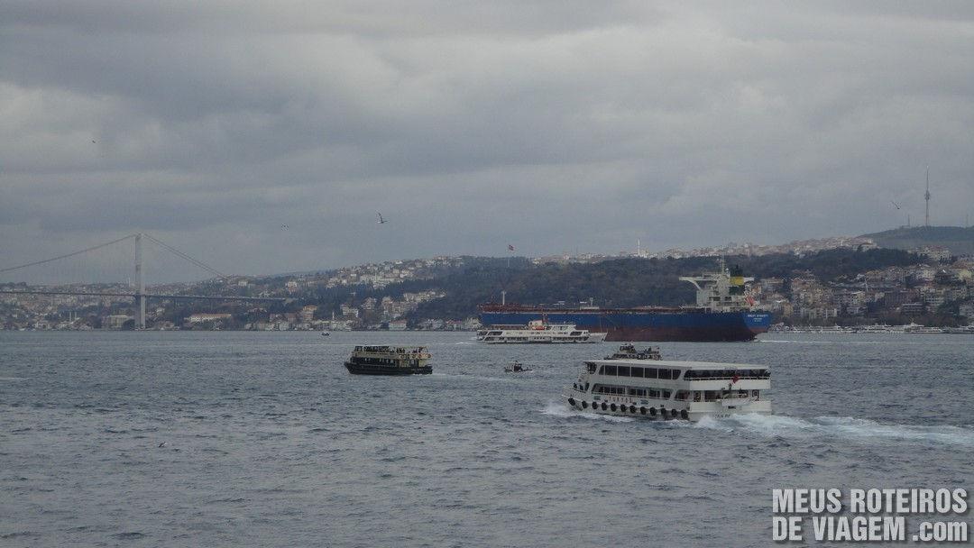 Vista do restaurante do Istanbul Modern