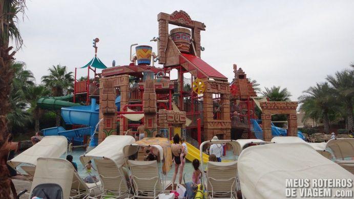 Tobogãs infantis do Parque aquático Aquaventure - Atlantis The Palm, Dubai