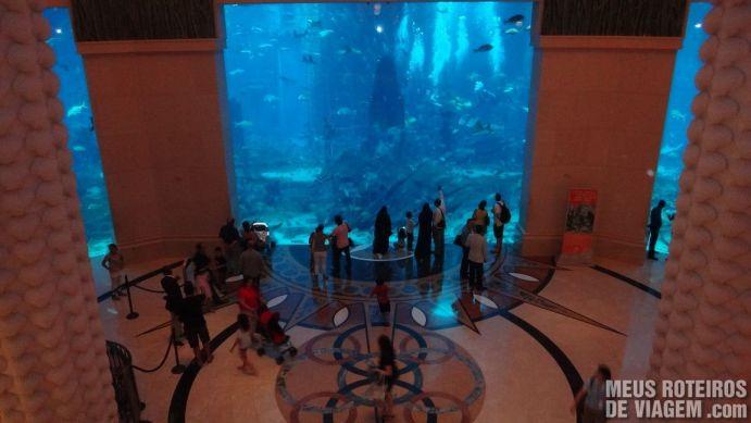Aquário na recepção do hotel Atlantis The Palm, Dubai